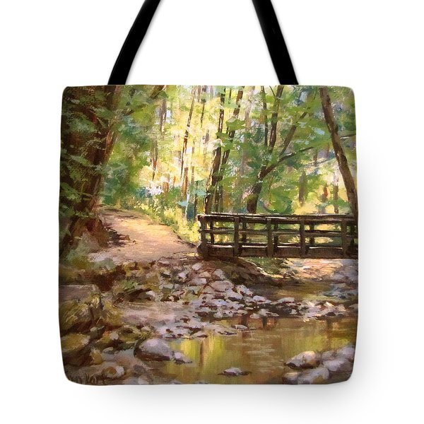 Bridge To The Falls Tote Bag