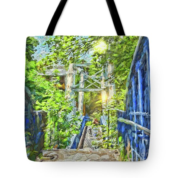 Tote Bag featuring the photograph Bridge To Your Dreams by LemonArt Photography