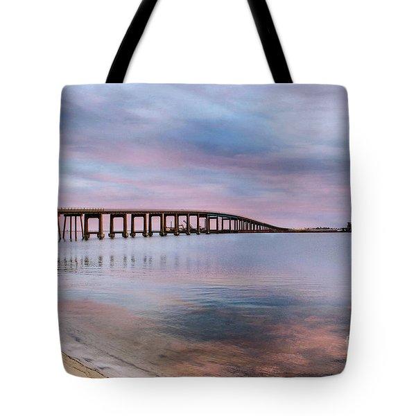 Bridge Under The Sunset Tote Bag