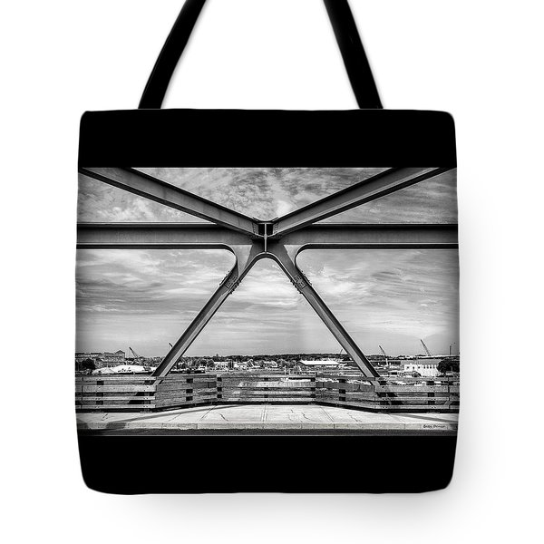 Bridge View In Portsmouth Nh Tote Bag by Betty Denise