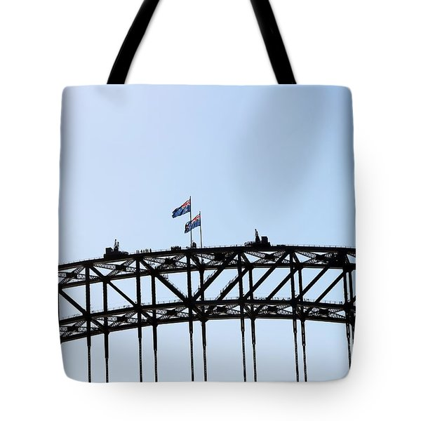 Tote Bag featuring the photograph Bridge Walk by Stephen Mitchell