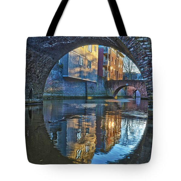 Bridges Across Binnendieze In Den Bosch Tote Bag