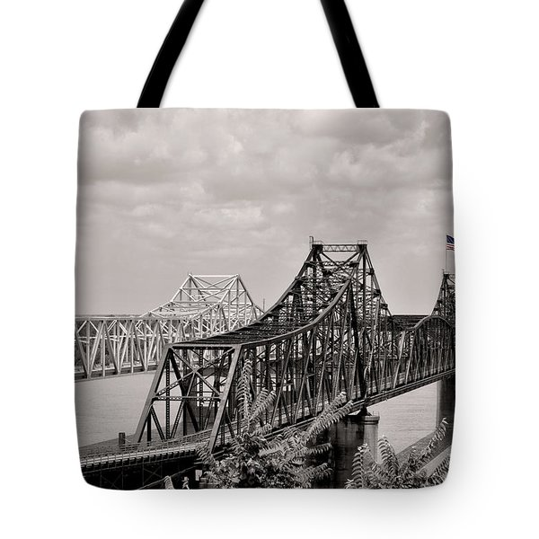 Bridges At Vicksburg Mississippi Tote Bag by Don Spenner
