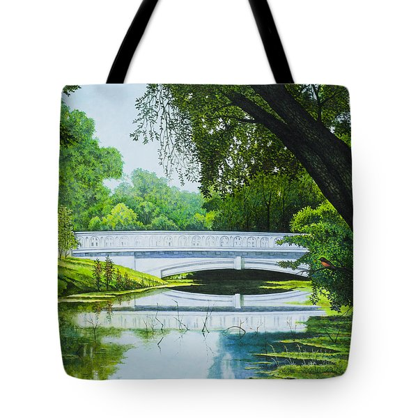 Bridges Of Forest Park IIi Tote Bag by Michael Frank