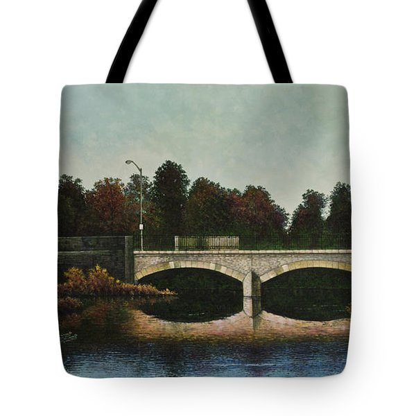 Bridges Of Forest Park Iv Tote Bag by Michael Frank