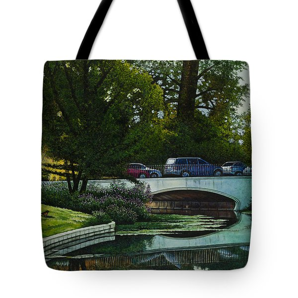 Bridges Of Forest Park V Tote Bag by Michael Frank