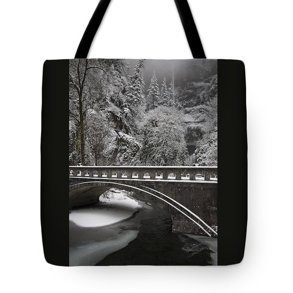 Bridges Of Multnomah Falls Tote Bag by Wes and Dotty Weber