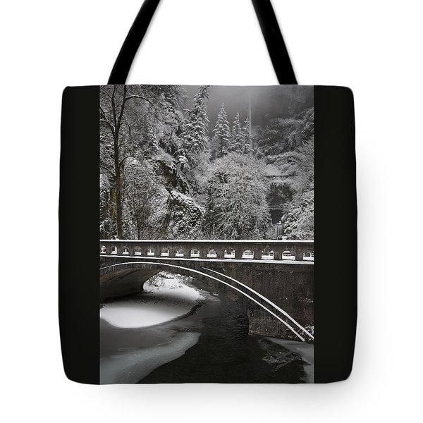 Bridges Of Multnomah Falls Tote Bag