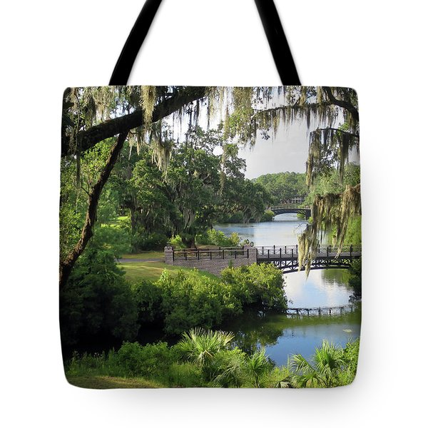 Bridges Over Tranquil Waters Tote Bag