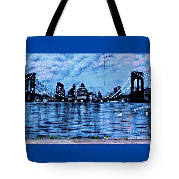 Bridges To New York Tote Bag