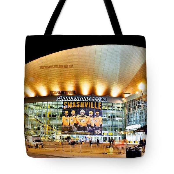 Bridgestone Arena Tote Bag