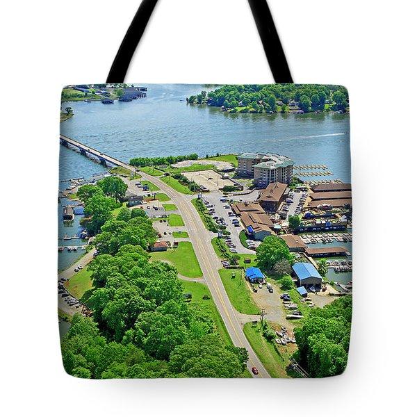 Bridgewater Plaza Aerial Tote Bag