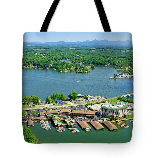 Bridgewater Plaza, Smith Mountain Lake, Virginia Tote Bag