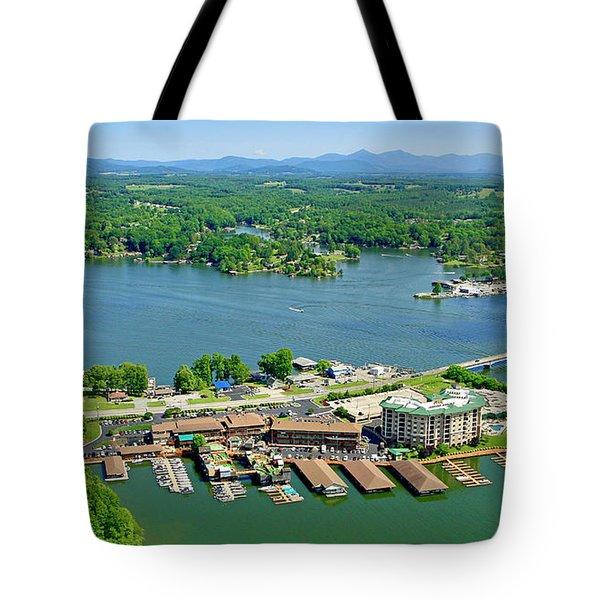 Bridgewater Plaza, Smith Mountain Lake, Virginia Tote Bag