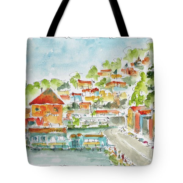 Bridgeway Boulevard Sausalito Tote Bag by Pat Katz