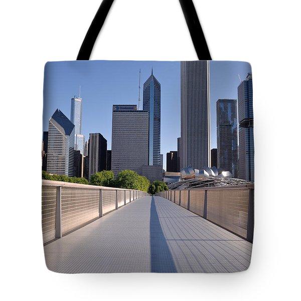 Bridgeway To Chicago Tote Bag by Steve Gadomski