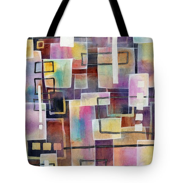 Tote Bag featuring the painting Bridging Gaps by Hailey E Herrera