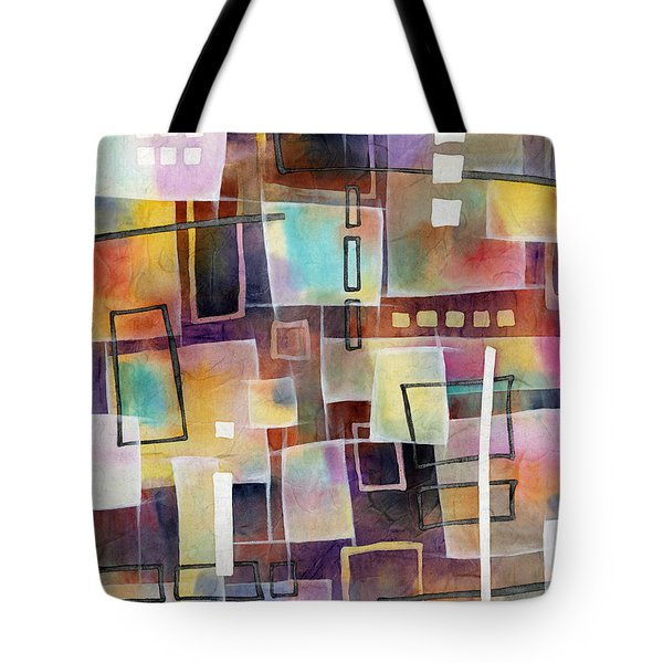 Tote Bag featuring the painting Bridging Gaps 2 by Hailey E Herrera