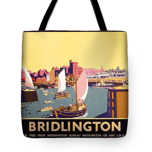 Bridlington Port, Yorkshire,great Britain, Travel Poster  Tote Bag