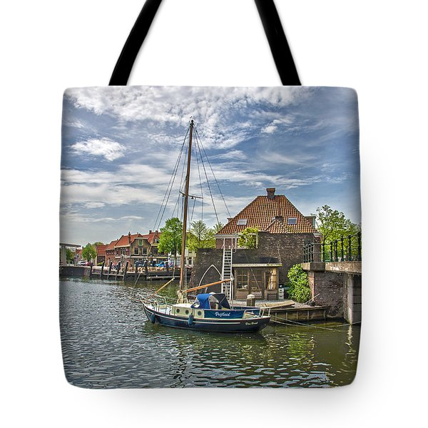 Tote Bag featuring the photograph Brielle Harbour by Frans Blok