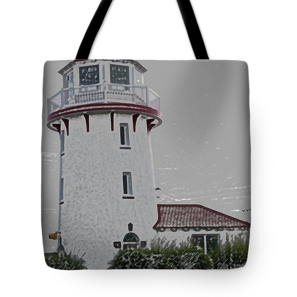 Brigantine Lighthouse Tote Bag