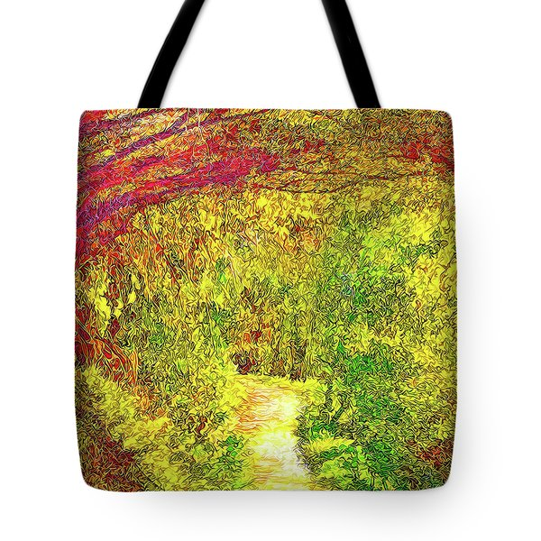 Bright Afternoon Pathway - Trail In Santa Monica Mountains Tote Bag by Joel Bruce Wallach