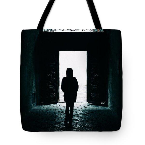 Bright Ancient Doorway Tote Bag