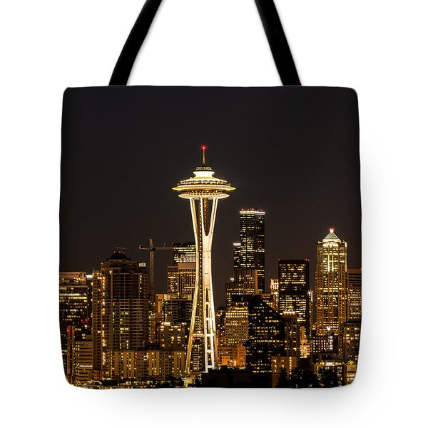 Bright At Night - Space Needle Tote Bag