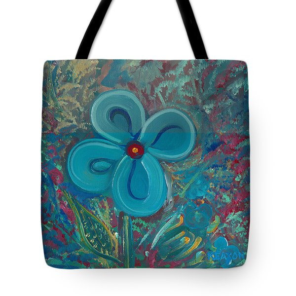 Bright Blue Tote Bag by John Keaton