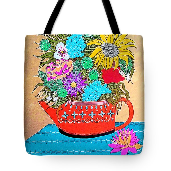 Tote Bag featuring the painting Bright Bouquet by Amy Sorrell