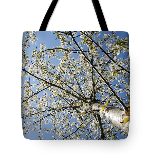 Tote Bag featuring the photograph Bright Cherry Tree by Kennerth and Birgitta Kullman