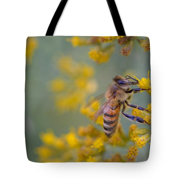Bright Eyed Bee Tote Bag