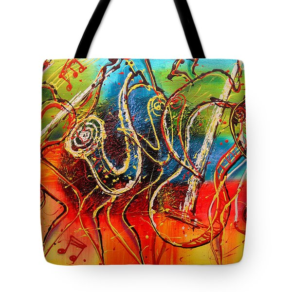 Bright Jazz Tote Bag