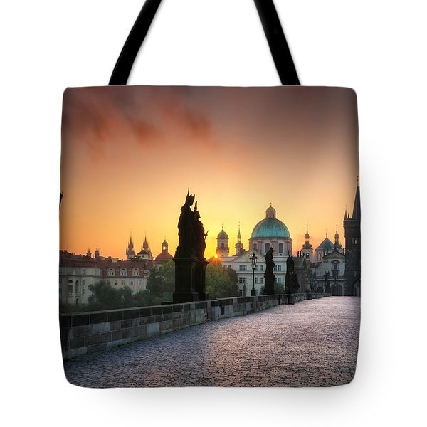 Bright Morning In Prague, Czech Republic Tote Bag