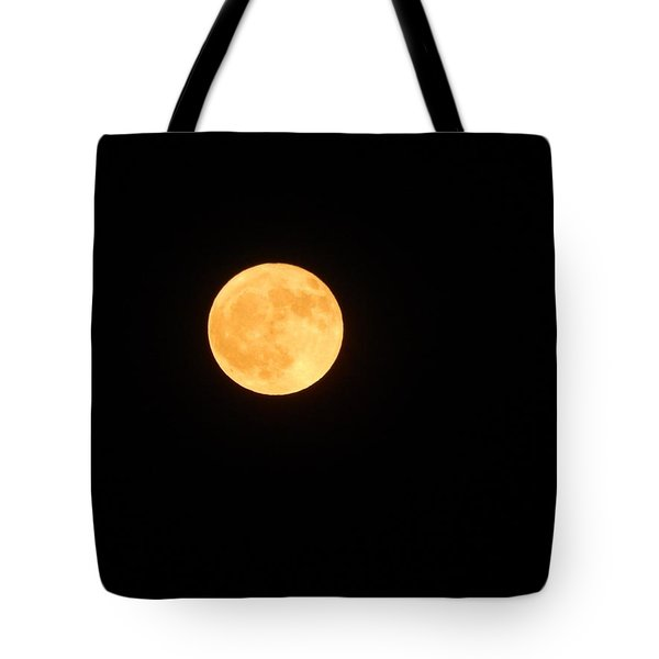 Bright Orange Moon Tote Bag