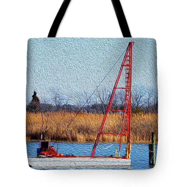 Tote Bag featuring the photograph Bright Paintery Barge by Dennis Dame