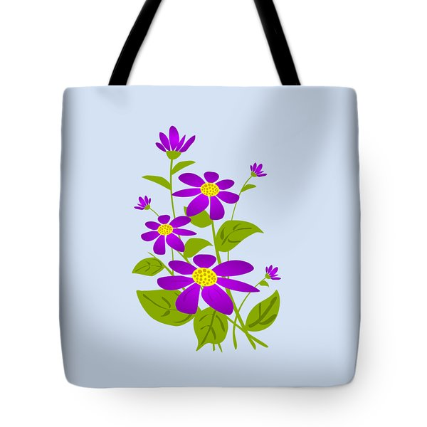 Bright Purple Tote Bag by Anastasiya Malakhova