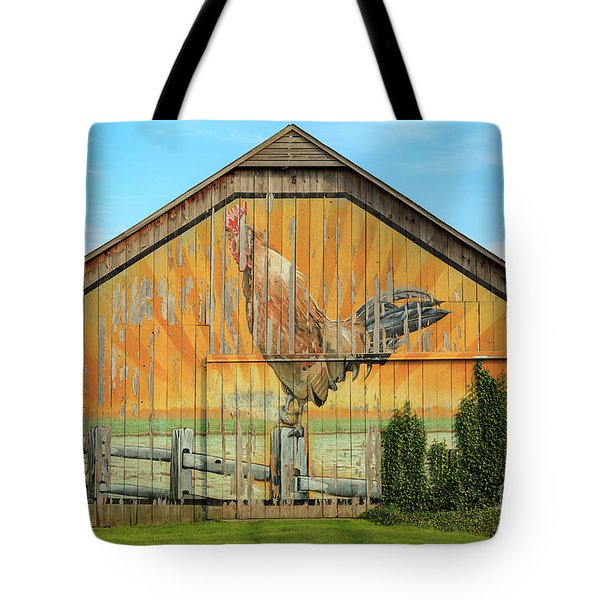 Bright Rooster Barn Tote Bag