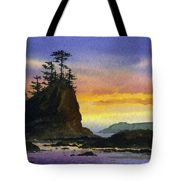 Bright Seacoast Sunset Tote Bag by James Williamson