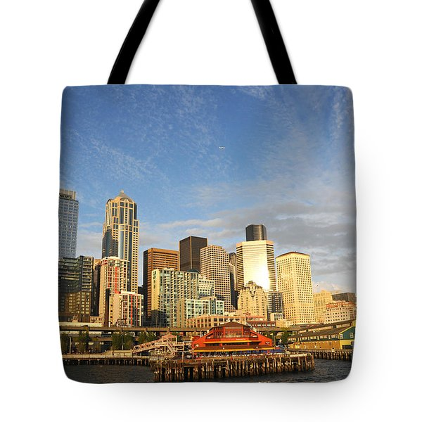 Bright Skies Over Seattle Tote Bag
