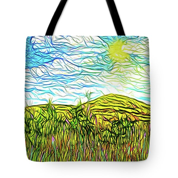 Bright Sky Summer - Field In Boulder County Colorado Tote Bag