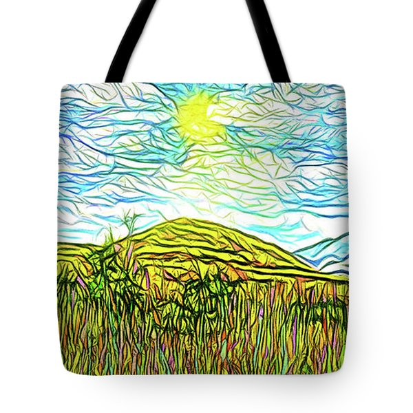 Bright Sky Summer - Field In Boulder County Colorado Tote Bag by Joel Bruce Wallach