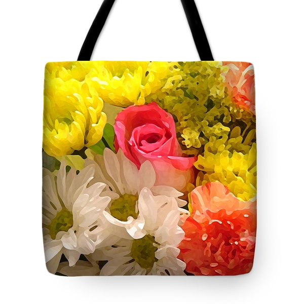 Bright Spring Flowers Tote Bag