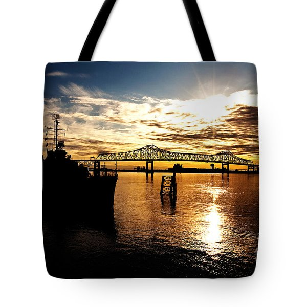 Bright Time On The River Tote Bag