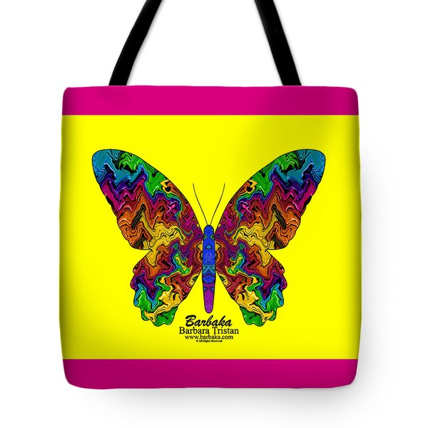 Tote Bag featuring the digital art Bright Transformation by Barbara Tristan