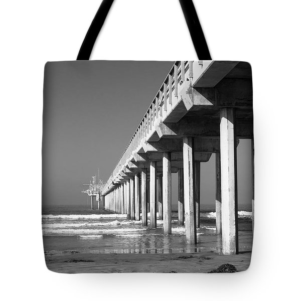 Bright White Scripps  Tote Bag