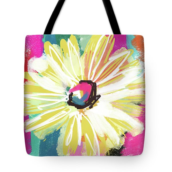 Bright Yellow Flower- Art By Linda Woods Tote Bag