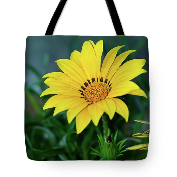 Tote Bag featuring the photograph Bright Yellow Gazania By Kaye Menner by Kaye Menner