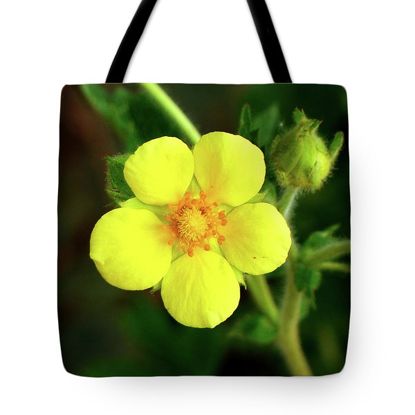 Bright Yellow Morning Tote Bag