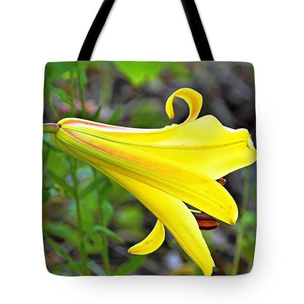 Bright Yellow Trumpet Lily Tote Bag